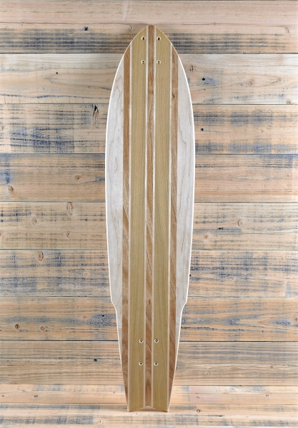 Custom Maple Stingray Longboard with Canarywood Inlays