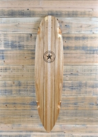 Custom Walnut Pintail Longboard with Mesquite Inlay